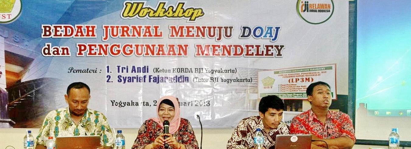 Workshop bedah Jurnal menuju DOAJ
